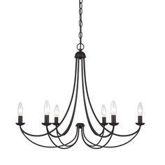 Quoizel 'Mirren' 6-light Chandelier   Overstock.com Shopping - Great Deals on Quoizel Chandeliers & Pendants$290 28d