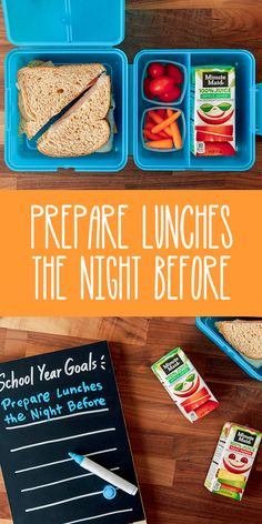 School Year Goal: Start the day off with a relaxed mindset and have one less thing to do in the morning by preparing lunches the night before. Adding Minute Maid Juice Boxes to the mix can help keep your kids happy and refreshed throughout the day. For more school year goals, head over to our Minute Maid blog!