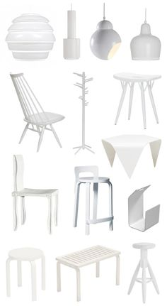 White scandinavian design by Artek, Finland