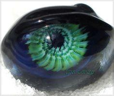 Jinx Garza Lampwork Flamework Fractal Style Glass Evil Eye Bead 30404 | eBay