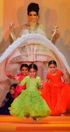 ....and out they came running!  Jean Paul Gaultier Haute Couture Spring 2013 Dresses for Children