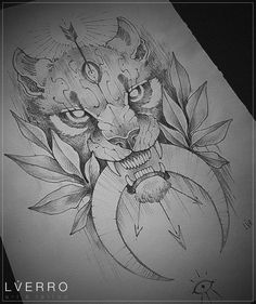 Replace with a mountain lion Tattoo Sketches, Tattoo Drawings, Body Art Tattoos, Drawing Sketches, Sleeve Tattoos, Art Drawings, Lion Drawing, Wolf Tattoos, Lion Tattoo
