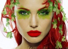 Poison ivy make up look.