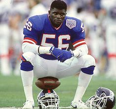 Division rivals were forced to install two tight end sets, H-backs, and jumbo offense-in the attempt (yes, attempt) to contain this man, Lawrence Taylor. New York Giants Football, Football Usa, American Football Players, Best Football Team, Lawrence Taylor, Super Rugby, Sports Stars, Toms, Legends