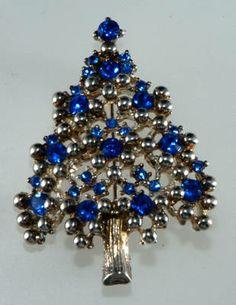 Blue Christmas Tree | Blue & Silver Christmas Tree - Price Guide for Vintage Eisenberg Blue ...