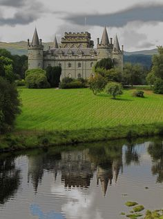 "visitheworld: "" Inveraray Castle, ancestral home of the Duke of Argyll, Scotland (by Philandthehounds). """
