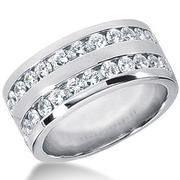 moissanite mens 14k gold ring