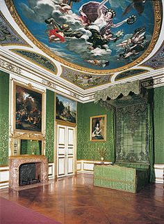 Nymphenburg Palace Interiors - Electress Bedroom