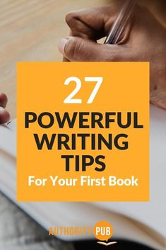 Powerful writing tips to help you with your next book. This is a list with writing advice from other expert authors. Use these tips to become a better writer.