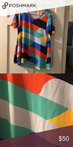 Lularoe the Perfect T Beautiful color block perfect T size M NWT LuLaRoe Tops Tees - Short Sleeve