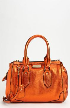 ~~ Burberry 'Soft Grainy Metallic' Leather Satchel available at Nordstrom ~~