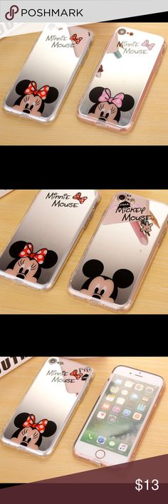 💞 Mini Mouse & Mickey Mouse iPhone Mirror Case iPhone case. Mini in Pink or Red. Black in Mickey. (Order only) in stock at the moment is the 5, 5s, 6, 6s,            6 splus, 7, 7plus, 8, and 8 plus.                         (availability may change) Other