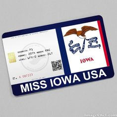 Miss Iowa USA Card