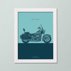 Quadro Decorativo - Moto Custom - Decor Quadros - decore com arte!