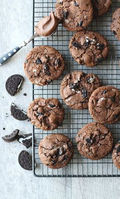 Nutella Cookies, Chocolate Chunk Cookies, No Bake Cookies, Chip Cookies, Healthy Cookie Recipes, Baking Recipes, Dessert Recipes, Pan Nube, Delicious Desserts