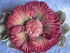 Grandma's Flower Garden~ Ribbonwork~French Ombre~Ebay