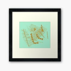 Luxury gold abstract glitter and foil design on modern emerald green Framed Print by Ankia