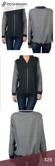 Heart print top/Jacket Beautiful full sleeves cozy top/jacket  with front zipper and heart printed on back .   🔹Measures -Armpit to armpit :21 length : 25 , sleeves :22 . 🔹Material is 74%rayon 21%polyester 5%spandex . Tops Sweatshirts & Hoodies