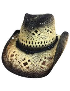 """Large/X-Large """"Scorched"""" Straw Western Hat w/ Beaded Band Western Cowboy Hats, Cowgirl Hats, Western Wear, Cowboy Boots, Wearing A Hat, Love Hat, Caps Hats, Hats For Women, Sneakers Fashion"""