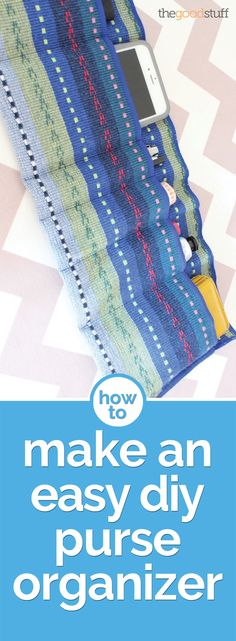 Get organized for the new year! Make a DIY organizer to hold all the essentials in your purse.