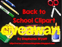 Back to School Giveaway!   Morning Meeting Must haves & Back to School Clipart!!!