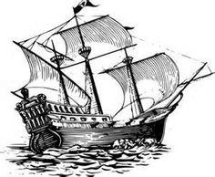 sailing cartoon ship boat lineart pirate ocean sea papapishu sail ...