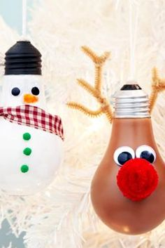 Create new Christmas decorations with old light bulbs. Follow these steps to make these adorable holiday ornaments!