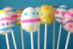 Cute Eater Egg Cake pops! Kids would love this. sweet!:)