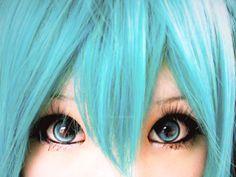 my eye makeup for my Hatsune Miku cosplay. i think i did pretty good i should say so myself My Hatsune Miku cosplay Eye Makeup Vocaloid Cosplay, Anime Cosplay, Cute Cosplay, Cosplay Makeup, Amazing Cosplay, Best Cosplay, Cosplay Girls, Cosplay Outfits, Anime Make-up