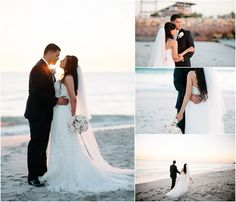 Perth wedding  beach photos bride and groom sunset