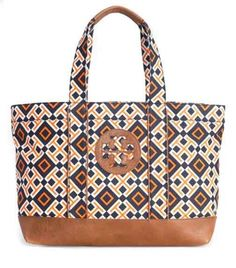 Tory Burch Small 4T Combo Printed Beach Tote  $94.52!Low Price Tory From Tory Burch Wholesaler