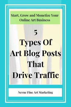Business Articles, Selling Art Online, Types Of Art, Photography Business, Art Market, Blog Tips, Art Blog, Paintings, Posts