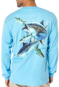 Guy Harvey Hungry Tuna Long Sleeve Shirt