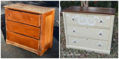 painted dresser DIY before and after