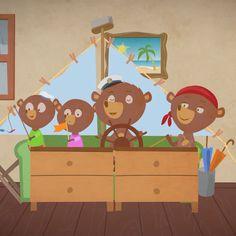 Video stills of the nursery rhyme Rain Rain Go Away All Songs, Kids Songs, Little Duck, Little Babies, Ten In The Bed, Rhymes Video, Sleeping Bunny, Five Little Monkeys, Row Row Your Boat