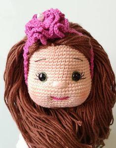 FREE TARİF TOKALI KIZ Crochet Dolls Free Patterns, Crochet Doll Pattern, Baby Knitting Patterns, Doll Patterns, Crochet For Kids, Crochet Baby, Amigurumi For Beginners, Booties Crochet, Crochet Bracelet