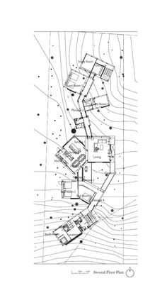 View in gallery skewed-linear-house-plan-integrates-trees-and-architecture-. skewed-linear-house-plan-integrates-trees-and-architecture- Architecture Concept Diagram, Japanese Architecture, Architecture Plan, Architecture Details, Temporary Architecture, The Plan, How To Plan, Fujimoto Sou, Cluster House