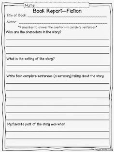Free Printable Book Report Form At ArtsyfartsymamaCom  Future