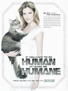 Be an Angel for Animals - Tricia Helfer with PETA