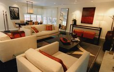 When visiting someone's house, the first room you will see is the living room of the house. This makes the interior design of the living roo. Living Room Orange, Living Room Modern, Interior Design Living Room, Living Room Designs, Living Rooms, Living Room Inspiration, Interior Inspiration, Best Interior, Orange Brown