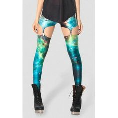 The Starry Sky Galaxy Printed Leggings Summer Spring Harajuku Finess Women Leggins Creative Elastic Pants Galaxy Leggings, Printed Leggings, Girls Leggings, Women's Leggings, Green Galaxy, Gothic Leggings, Diy Clothes, Clothes For Women, Edm Outfits