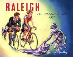 Raleigh poster - For luxury cycling #cyclingposters @brooksengland via @l88lra