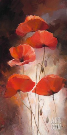 Poppy Bouquet Ii Stretched Canvas Print / Canvas Art for sale. Shop your favorite willem haenraets Poppy Bouquet Ii Stretched Canvas Print / Canvas Art without breaking your banks. Abstract Canvas, Oil Painting On Canvas, Canvas Art, Painted Canvas, Painting Abstract, Watercolor Flowers, Watercolor Paintings, Poppies Painting, Poppies Art