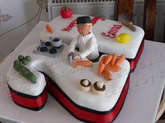 Birthday cake for a chef - Cake by Elaine Bennion (Cake Genie, Cakes by… 21st Cake, 21st Birthday Cakes, 10th Birthday, Birthday Ideas, Roller Coaster Cake, Happy Birthday Chef, Bible Cake, Cake Design For Men, Fondant Cake Designs