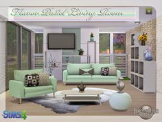 Lana CC Finds - Flavor Pastel living room by Jomsims (Sims 4) ...