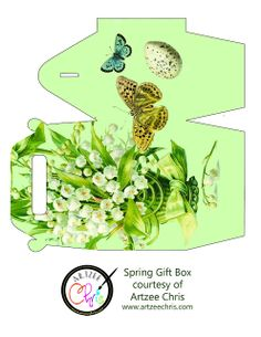 The Artzee Blog: Free Lily of the Valley Sping Gift Box Printable