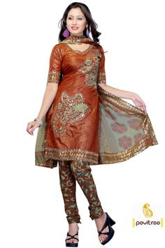 Aesthetic Orange Color Anarkali PartyWear Salwar Suit  Anarkali Salwar Suit, Party Wear Salwar Suit, Salwar Suit, Embroidery Salwar Suit