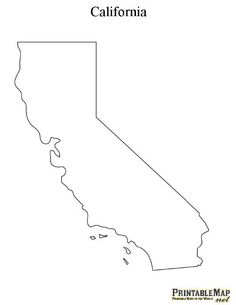printable map of california - Printable Outlines