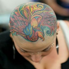 Wow! This is great! I wanted a tat on my head when my hair was gone, but was warned against it because of the chemo drugs. Now I wish I would have done it anyway.
