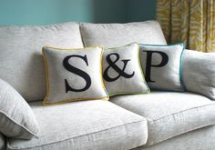 Love this company Kate Sproston Designs.  Gorgeous Embroidered products for the home.